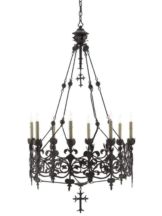 3740 Prety But Way Out Of My Range View The Currey And Company 9000 0007 Porte De Fer 8 Light Wrought Ir Chandelier Chandelier Decor Candle Style Chandelier