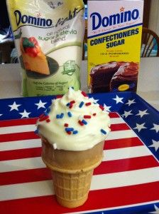 Summer #Recipe: Fourth of July Cupcake Cones! Fun & Delicious with Domino Sugar Light
