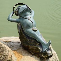 Mellow Frog Garden Sculpture with Bluetooth Speakers