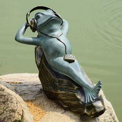 Mellow Frog Garden Sculpture with Bluetooth Speakers