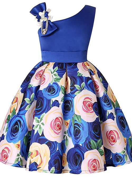 Kids Toddler Girls' Active Sweet Christmas Daily Holiday Floral Color Block  Solid Colored Print Sleeveless Above Knee Dress Blue 2021 - US $24.19    Kids fashion dress, African dresses for kids, Dresses kids girl