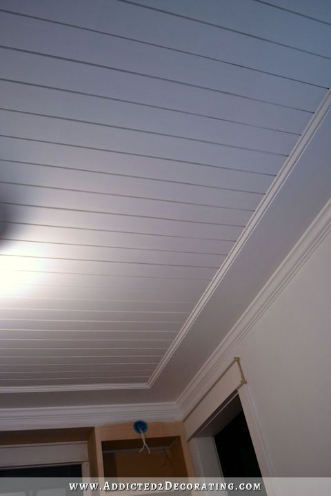 Pinterest the world s catalog of ideas for Faux wood ceiling planks