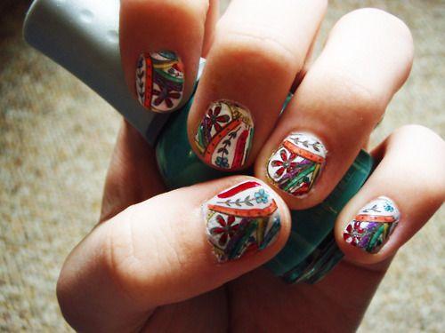 : Makeup Nails, Fingernail Art, Increibles Nails, Paisley Nails, Nails Uñas, Nails Manicures, Hair Nails, Holiday Other Nails