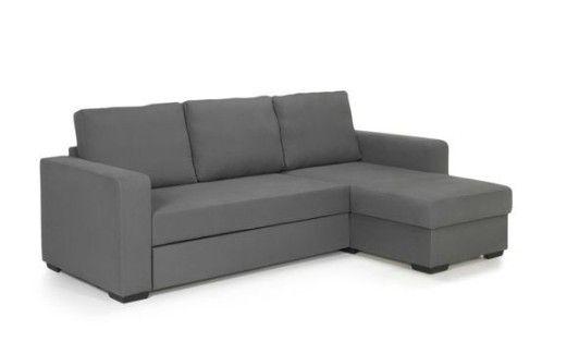 Canapé d'angle réversible avec coffre de rangement gris Alinn 499€ - Alinéa - http://www.alinea.fr/alinn-canape-angle-reversible-gris-coffre.html#