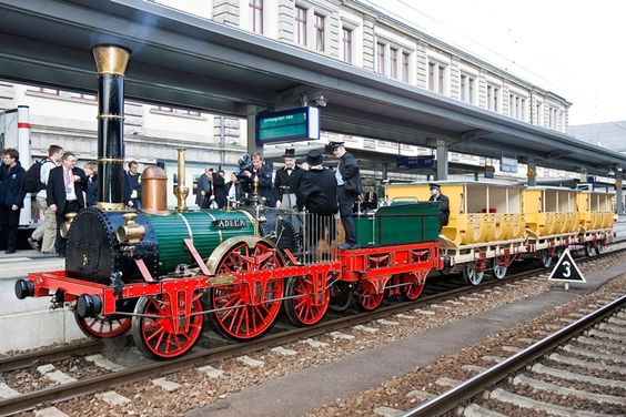 The 'Adler' (eagle) was the first train which ever ran in Germany - between Nuremberg and Fürth in 1835.