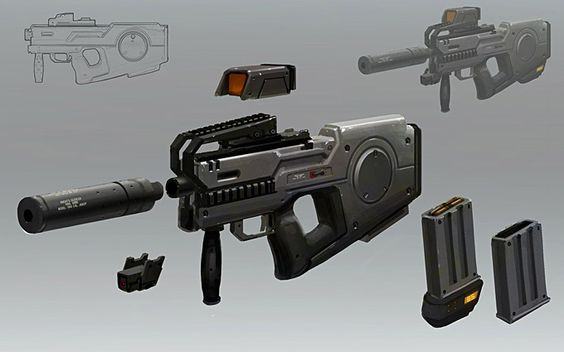 Weapon Concept Art by Adam_Baines | Weapons (old & modern ...