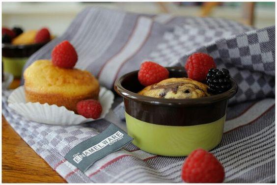Enamelware, Muffin , Pancake mould, Souffle