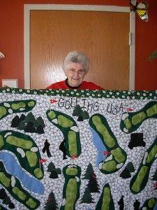 Golf quilt idea (further away photos at site)