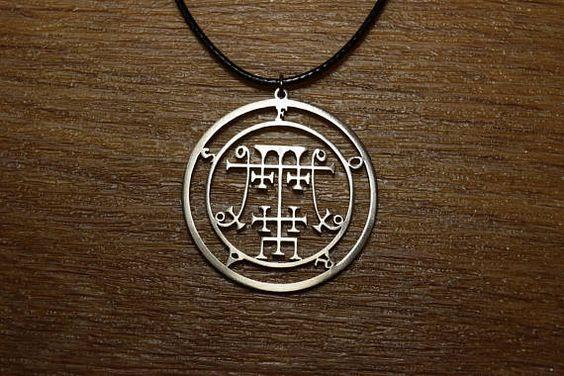 Sceal Sigil of Foras Necklace Satan Necklace Lesser Key demon seal pendant Goetia necklace Lemegeto