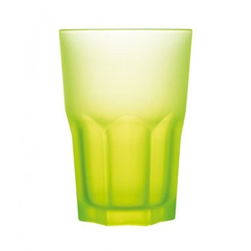 Verre à eau jaune fluo 30 cl Techno Colors