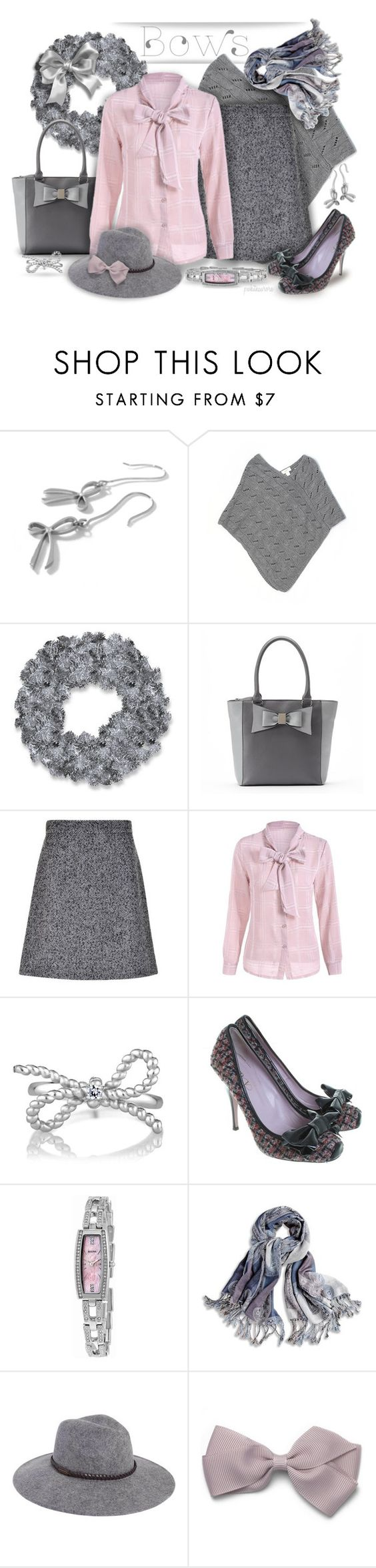 """""""Bows!!!"""" by pwhiteaurora ❤ liked on Polyvore featuring Trilogy, Kamsmak, LOFT, National Tree Company, Apt. 9, Dolce&Gabbana, RED Valentino, Bulova, Chico's and Billabong"""
