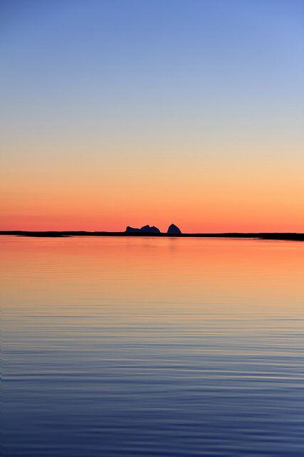 Sun going down on Træna [Daily Project] by DavGoss, via Flickr #sea #sky