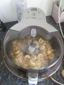 Poulet à la banane fait avec l'actifry