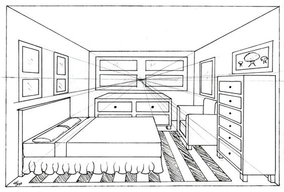 foundation drawing 1 g4 one point perspective and 2 point perspective