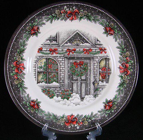 Set Of 4 Royal Stafford Christmas Home Dinner Plates Made In Uk Holiday Christmas Dinner Plates Christmas Plates Holiday Dinnerware