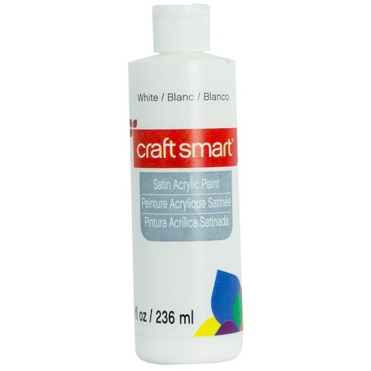 Satin Acrylic Paint By Craft Smart 8 Oz In White Michaels