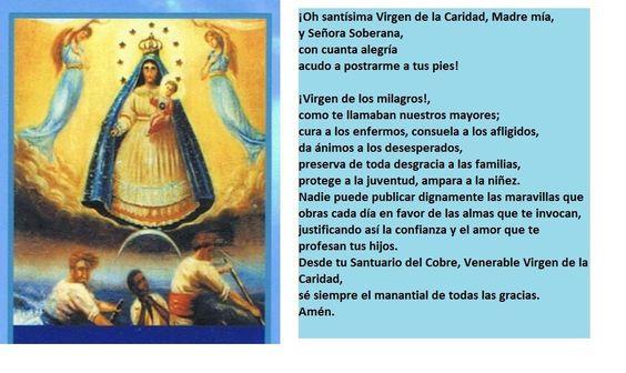 Oración a la Virgen de la Caridad del Cobre, Patrona de Cuba. #comparte https://www.facebook.com/CubanosGuru/