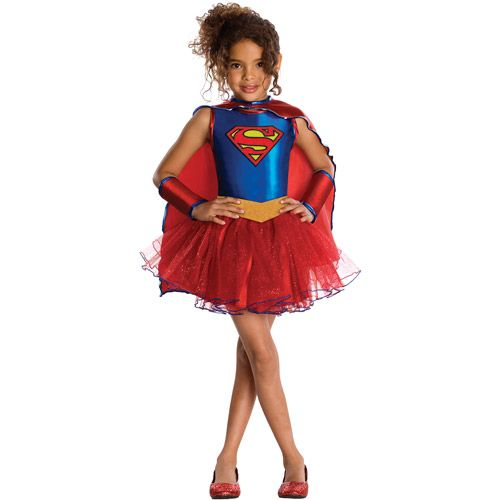 Rubies Supergirl Tutu Child Halloween Costume How about this with spider girl emblem on it and tights?