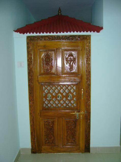 Pooja Room Door Designs in Wood