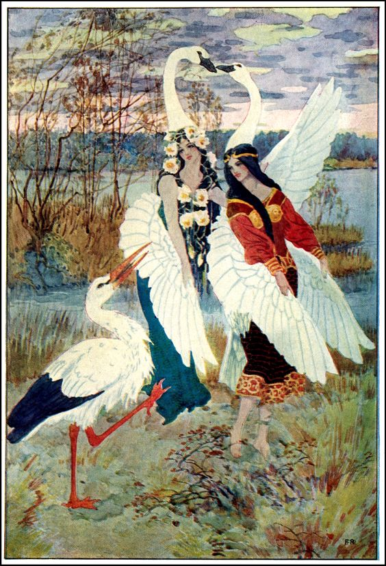 Art by Frederick Richardson (1926).  Probably from the book HANS ANDERSENS FAIRY TALES.:
