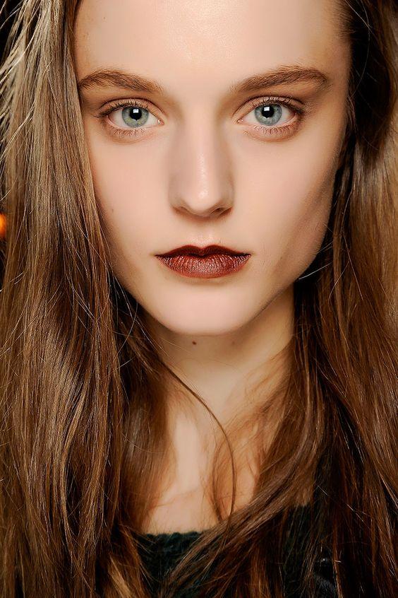 Tendencias maquillaje otono invierno 2013 labios burgundy - 3.1 Philip Lim.