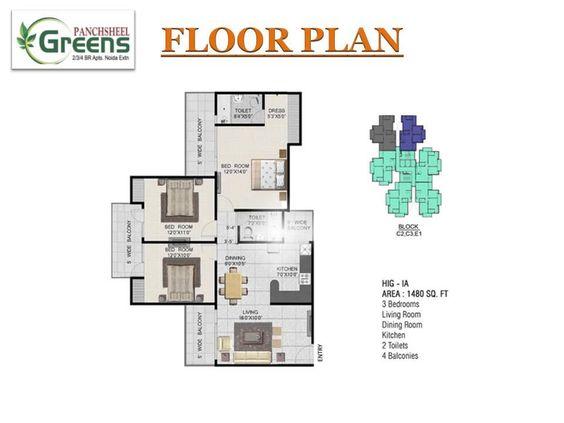 Panchsheel Greens At Noida Extension Call 91 9560450435 Noida Green Flooring Living Dining Room