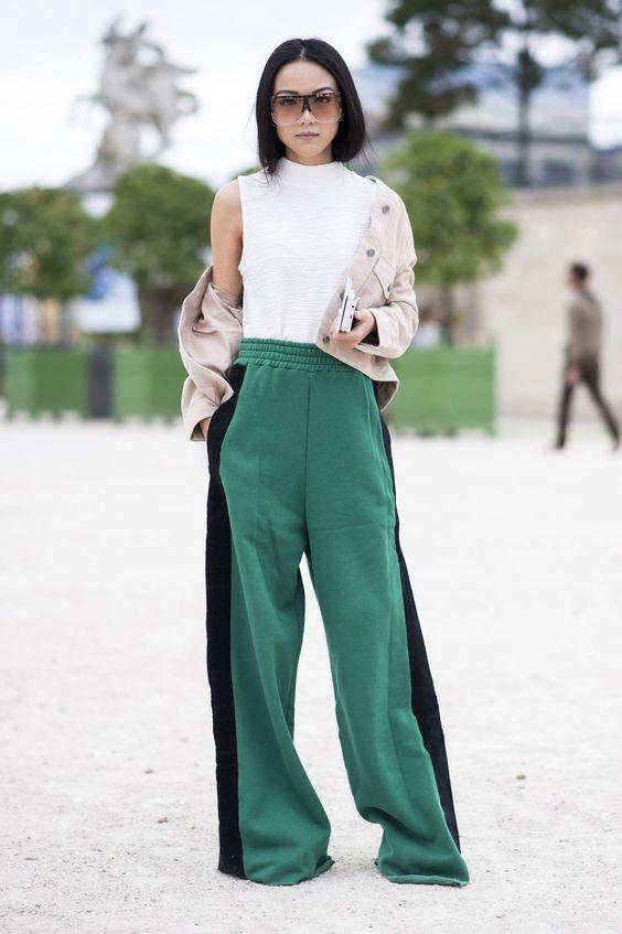 Mit was zu Hosen mit Streifen zu tragen? | Mode