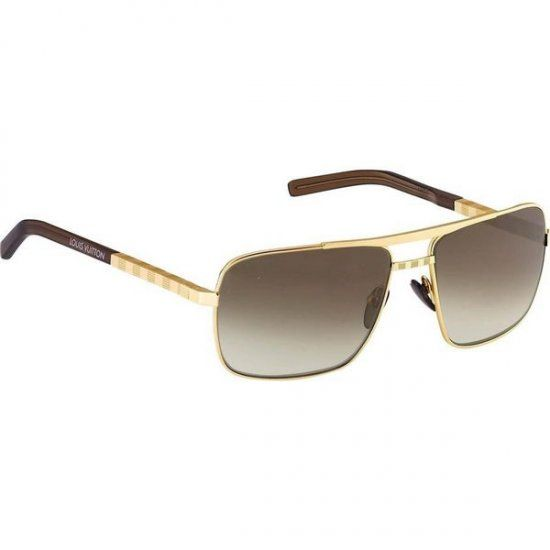 Louis Vuitton Gold Frame Sunglasses : Men Louis Vuitton Sunglasses Attitude Gold Z0259U ...