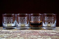 Nothin' But Kentucky Bourbon Glasses (Set of 2) by Cricket Press