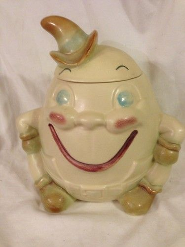 Vintage Brush Pottery Humpty Dumpty with Cowboy Hat Cookie Jar | eBay