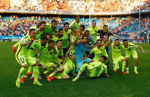La francachela del equipo que prima sobre las individualidades para ganar títulos (2015): FC Barcelona.
