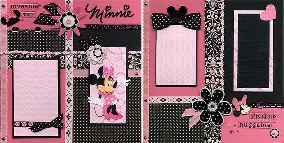 DISNEY SCRAPBOOK -pink Minnie page