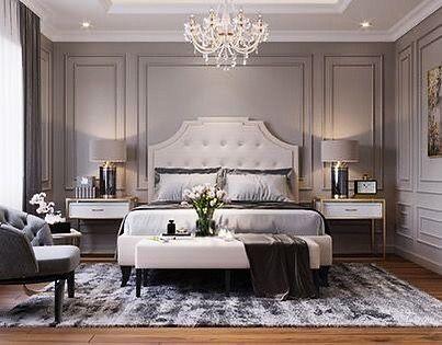 Neo Classic Bedeoom Neoclassical Neoclassicism Neoclassicbedroom Idea Bedroomdecor Bedroom Be Luxury Bedroom Master Luxurious Bedrooms Grey Bedroom Decor