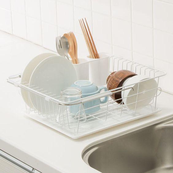 ニトリ、IKEA、無印の水切りかご比較!シンク上に置きやすいおすすめ17選