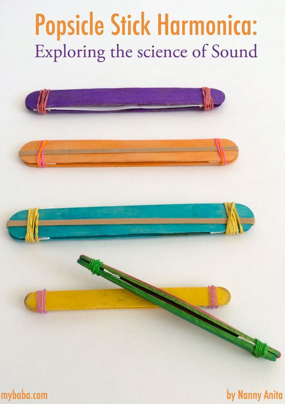 Let children explore the science of sound with this popsicle stick harmonica activity.