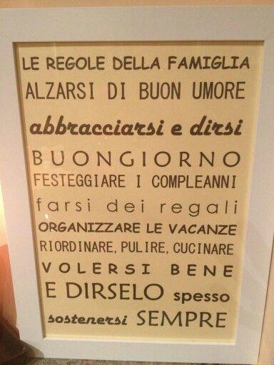 Regole della famiglia: