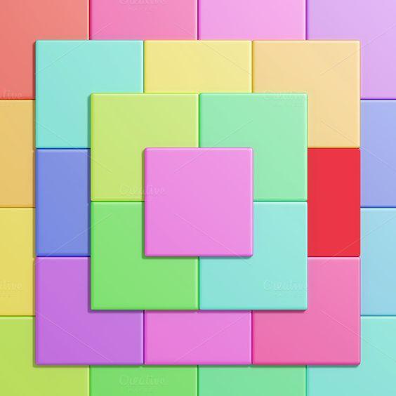 Colored cubes by De todo un poco on Creative Market