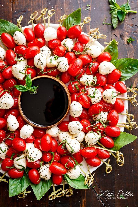 Caprese Salad Christmas Wreath | Stay At Home Mum