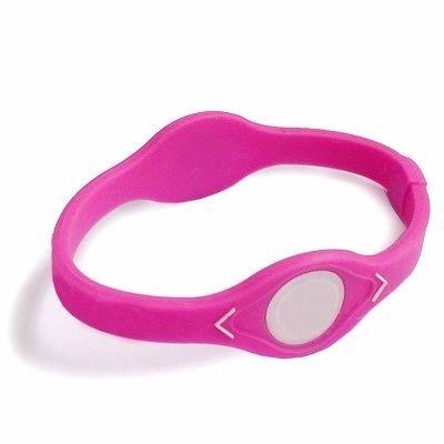 WS Silicone Wristband Bracelet, Size: 20.5cm (L)(Magenta)