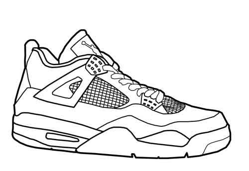 Nike Air Max Coloring Page Shoes Sneakers Sketch Sneakers Kevin Durant Shoes