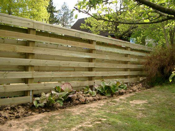 Staket staket tryckimpregnerat : liggande staket - Tryckimpregnerat virke | Inredning | Pinterest