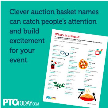 Give Your Auction Basket A Clever Name It Could Make The