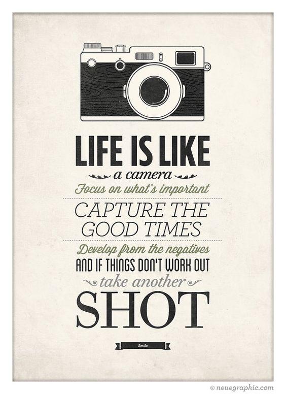 Das Leben ist wie eine Kamera Vintage-Stil von NeueGraphic auf Etsy