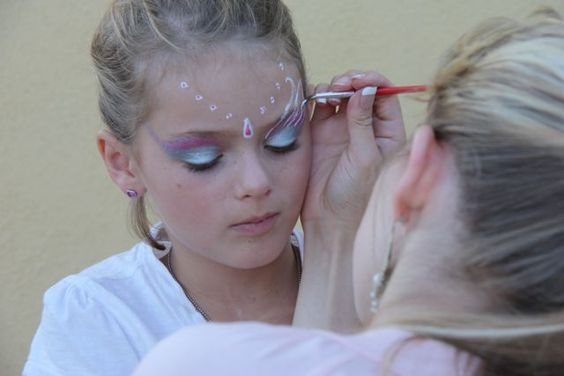 Fairies, Face paintings and Faces on Pinterest