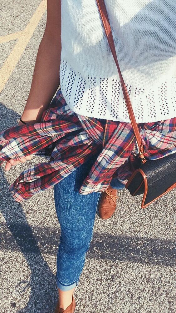 Fall inspired. Thrift shop. Sweater crops and flannels.