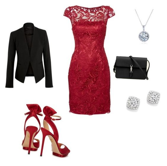 """""""Formal"""" by thee-fashionista ❤ liked on Polyvore featuring Adrianna Papell, Theory, Charlotte Olympia, Kobelli, Gucci and Bloomingdale's"""