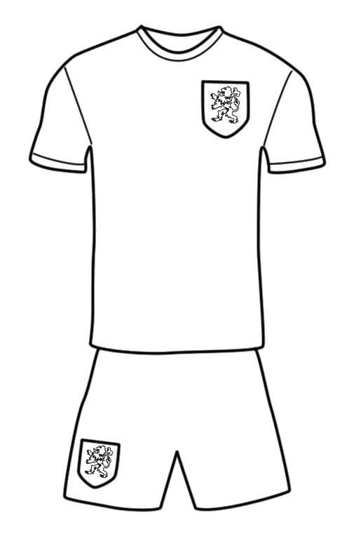 Football Uniform Colouring Page For Fans Di 2020