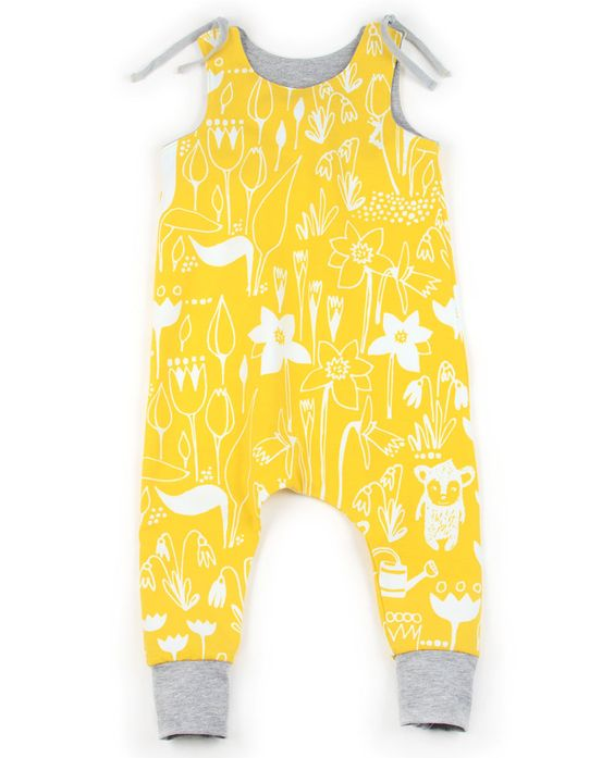 The harem romper is an easy, ADORABLE, casual pattern. It's a fun day project that will look good in almost any fabric. Also perfectly unisex!