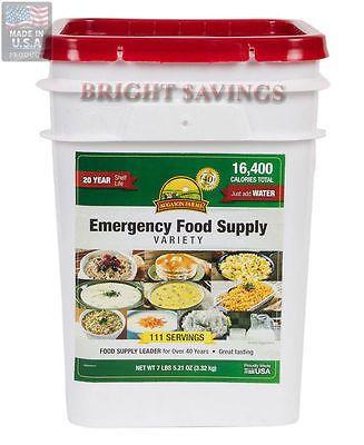 111 Servings Augason Farms Emergency Food Supply Variety Pail Storage