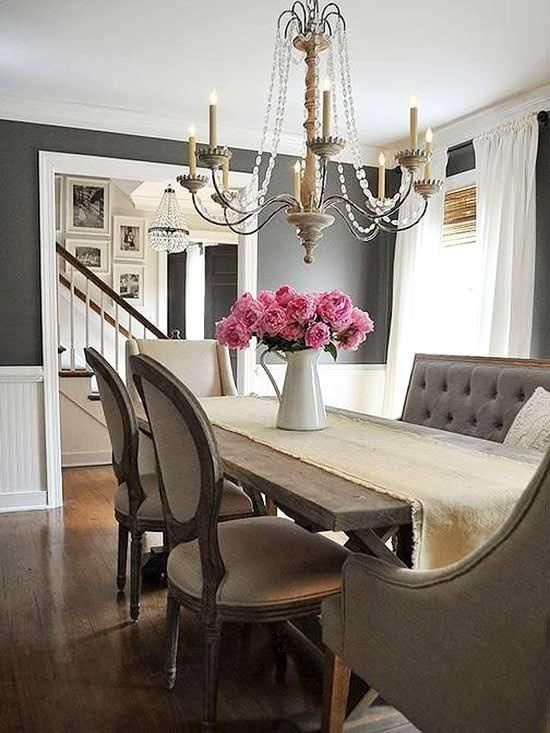 5 Dark But Not Daunting Paint Colors Country Dining Rooms French Country Dining Room French Country Living Room